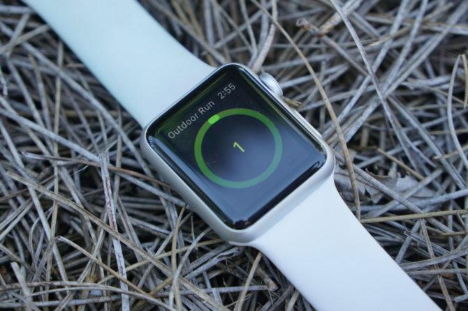 Apple Watch outdoor run app