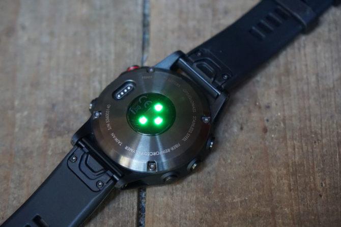 Garmin Fenix 5 heart rate sensor
