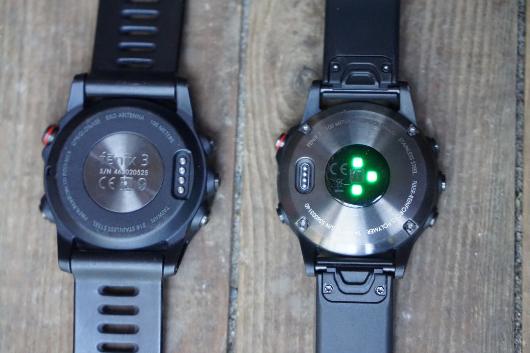Fenix 3 Left Vs Fenix 5 Right Fitness Gadgets