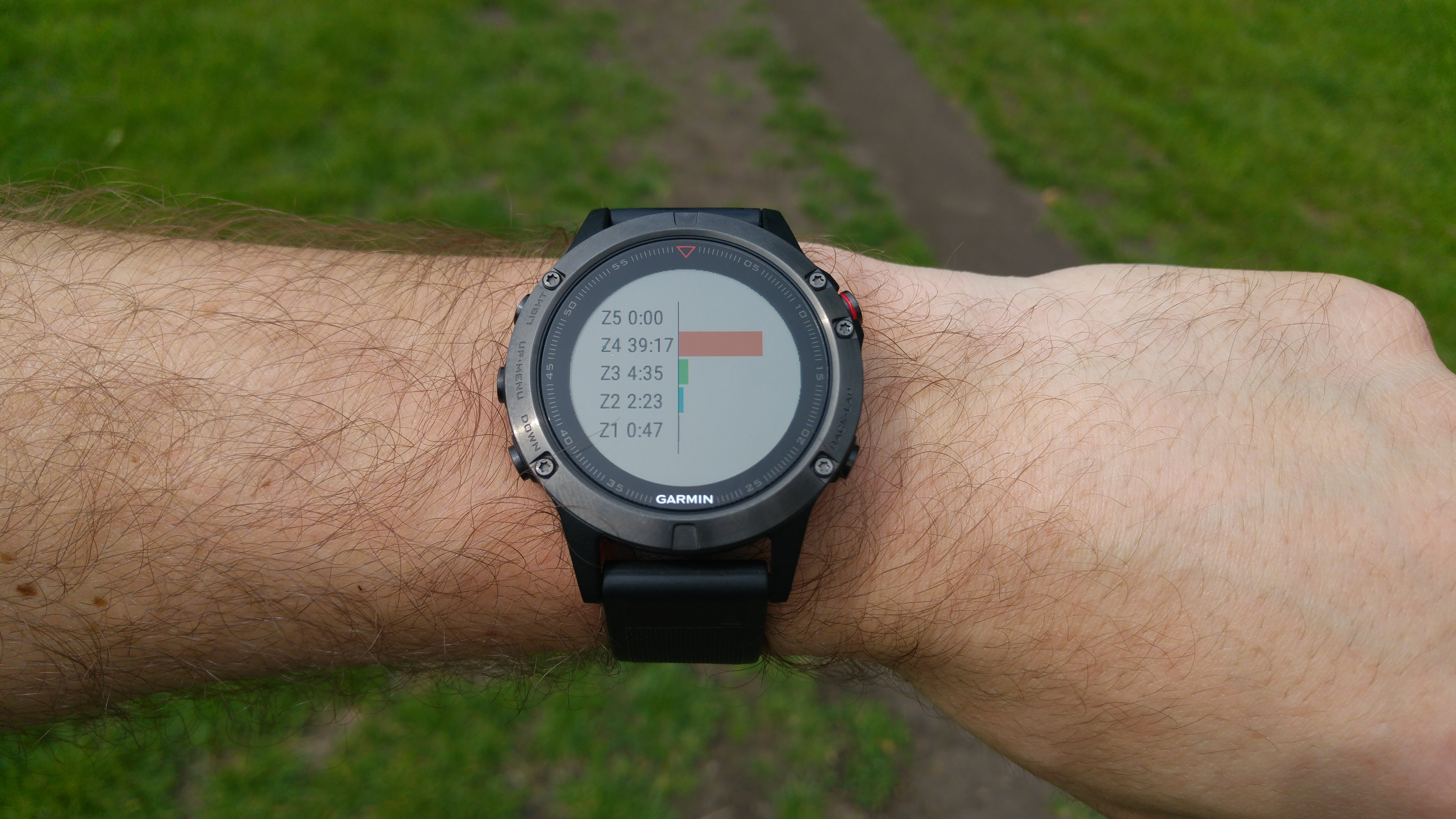 Review Garmin Fenix 5 Accuracy And Application Fitness Gadgets 5x Sapphire Slate Grey Heart Rate Zones