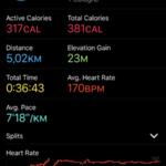 Apple Watch 3 Fitness Data