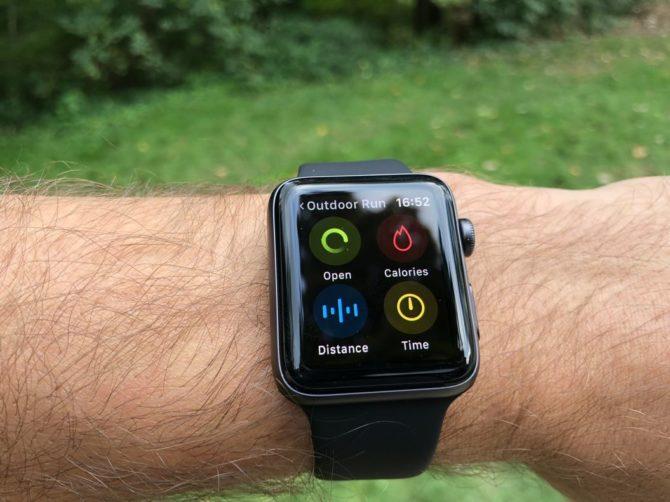 Apple Watch 3: Setting training goals