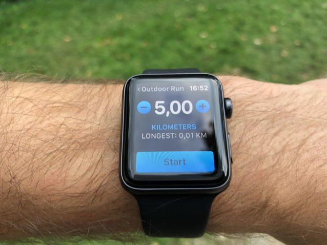 Apple Watch 3: 5km destination