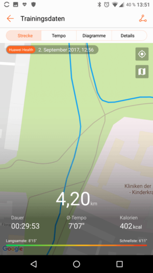 Huawei Band 2 Pro - GPS accuracy