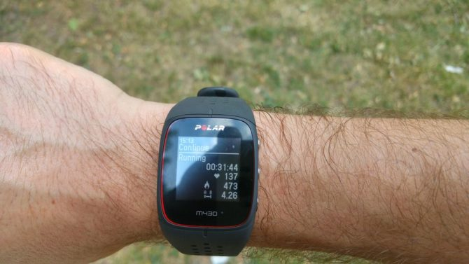 Polar M430 – Training paused