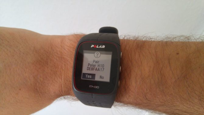Polar M430 with H10-Chest Strap