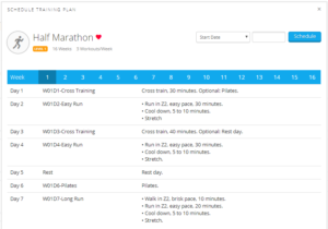Connect: Half Marathon Training Plan