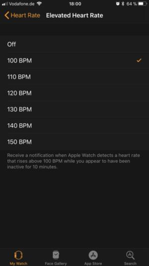 Adjustable heart rate monitors Threshold values