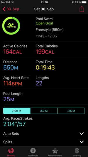 Apple Watch 3 Review Swimming