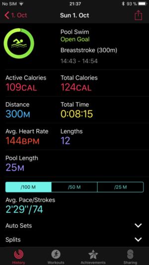 Breaststroke: Apple Watch 3