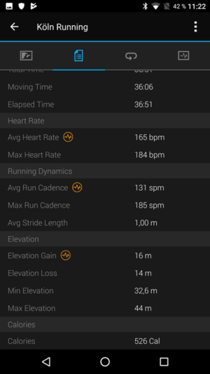 Garmin Vivoactive 3 - Connect App