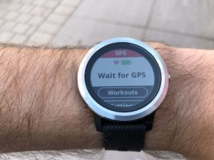 Vivoactive 3 is waiting for a GPS signal