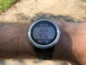 Garmin Vivoactive 3 during running workout