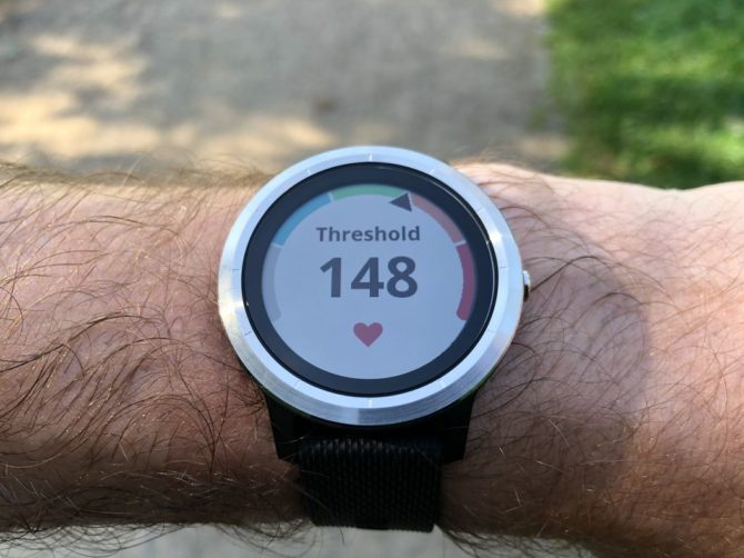 Garmin Vivoactive 3 - Current HR zone