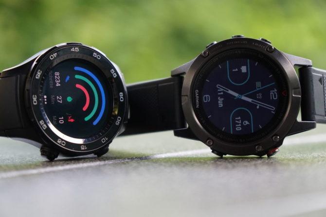 Huawei Watch 2 vs. Fenix 5