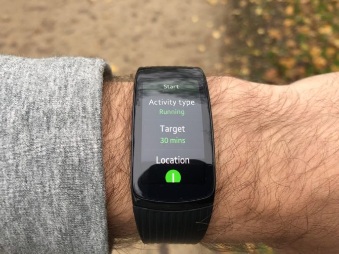 Samsung Gear Fit2 Pro Running with GPS