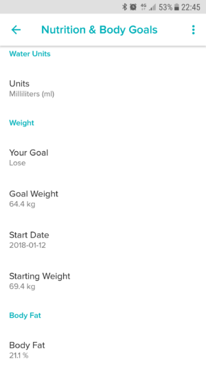 Fitbit Aria Targets
