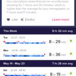 Fitbit Versa sleep details