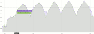 Garmin Vivoactive 4 Test Interval Training: Purple: Vivoactive 4 - Green: Polar H10 HR chest strap