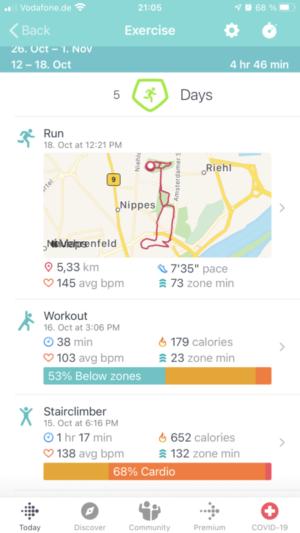 Fitbit App: Activities