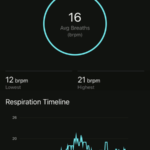 Garmin Connect respiratory rate
