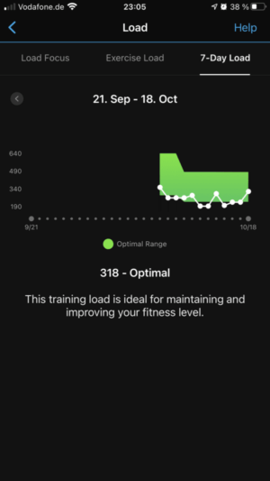Garmin Connect: Load (training load)