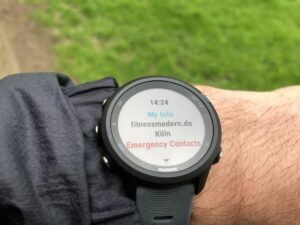 Garmin Forerunner 245 emergency assistance